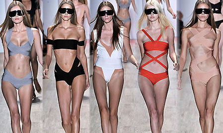 151a8668e68f9 The New Hervé Léger Swimsuit Collection: Not water repellant ...